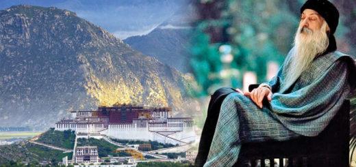 osho with tibet